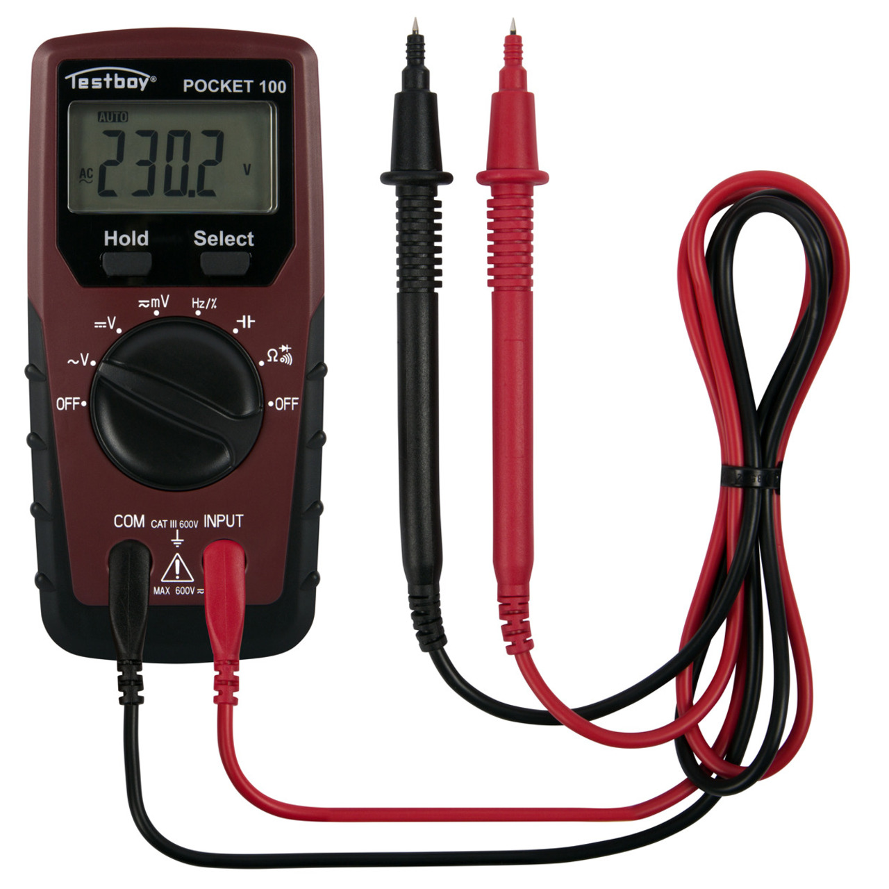 testboy Multimeter Pocket 100 - CAT III 600 V