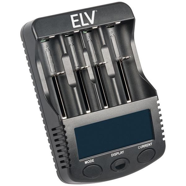 ELV 4-fach-Akkuladegerät und Analyzer ML10000 für Li-Ion/NiCd/NiMH