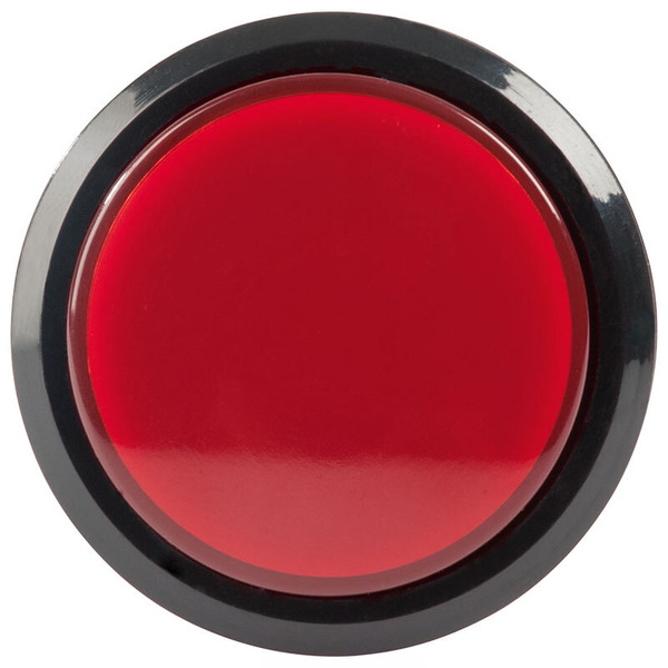 Grobhandtaster 46 mm mit Beleuchtung (LED), rot