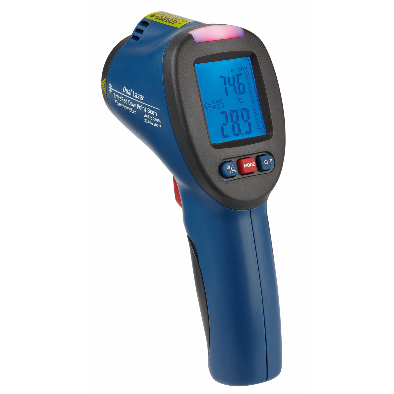 TFA Infrarot-Thermometer mit Schimmel-Detektor und Taupunkterkennung- -50-C bis +260-C