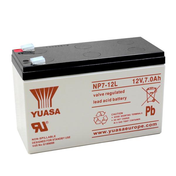yuasa AGM Bleiakku NP7-12L mit VdS, Fastonkontakt 6,3mm, 12 V / 7 Ah