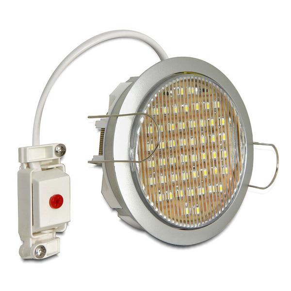 Delock Lighting GX53-Einbaufassung, rund, silber, 90.5 mm