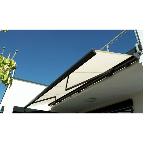 Schellenberg Funk-Akku-Markisenantrieb mit Solarpanel, fernbedienbar