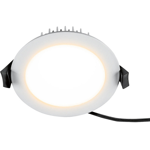 HEITRONIC 13-W-LED-Downlight LESCAR, rund, Farbtemperatur einstellbar, weiß lackiert, IP54