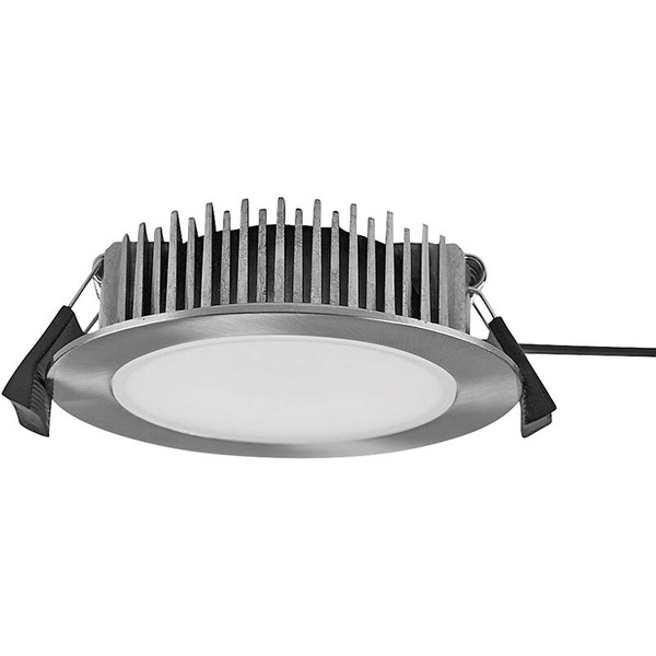 HEITRONIC 13-W-LED-Downlight, rund, Farbtemperatur einstellbar, nickel gebürstet, IP54