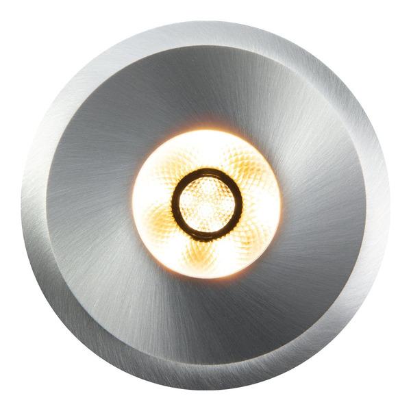 HEITRONIC 6-W-LED-Einbaustrahler AUSTIN aus gebürstetem Aluminium, rund, IP20, Einbautiefe nur 20 mm