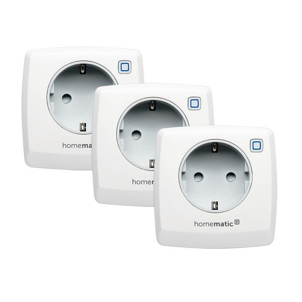 Homematic IP Smart Home 3er Set Schaltsteckdose HmIP-PS