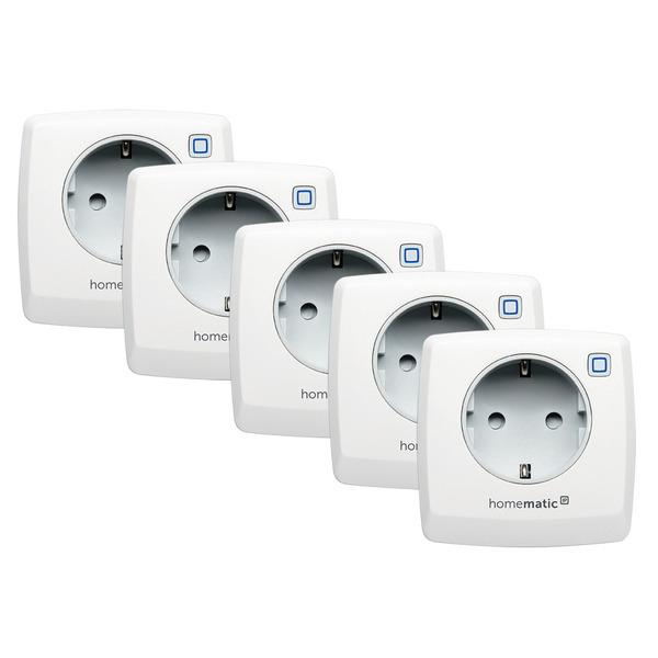 Homematic IP Smart Home 5er Set Schaltsteckdose HmIP-PS