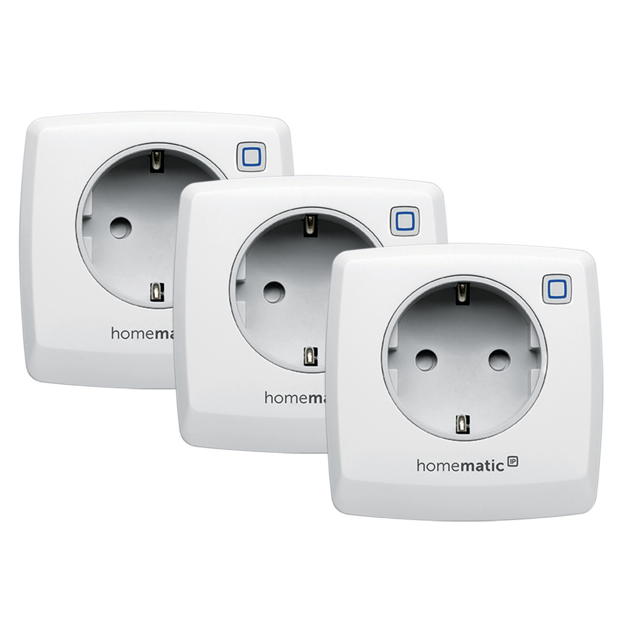 Homematic IP 3er Set Schalt-Mess-Steckdose HMIP-PSM für Smart Home - Hausautomation