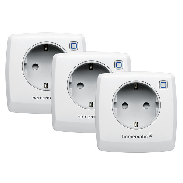 Homematic IP 3er Set Schalt-Mess-Steckdose HMIP-PSM für Smart Home / Hausautomation