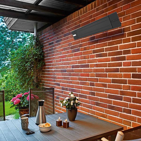 Hortus 900/1800-W-Dunkelstrahler mit IR-Fernbedienung, Wand- und Deckenmontage möglich