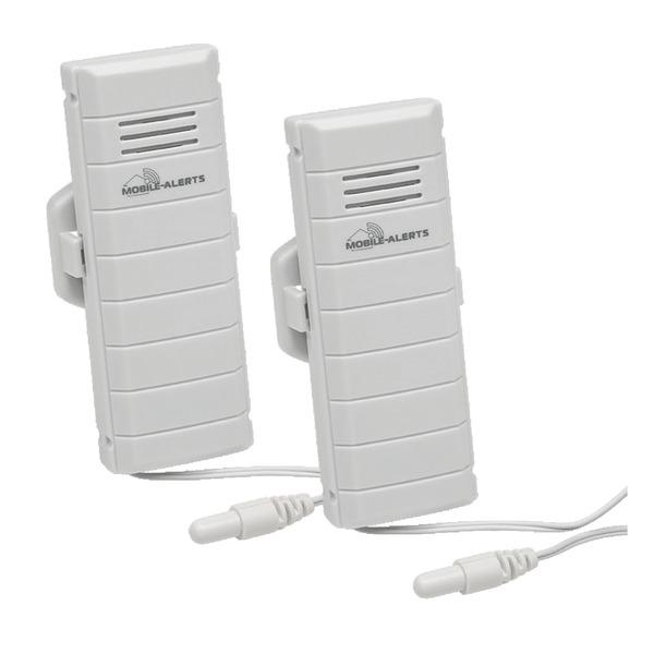 ELV Mobile Alerts Temperatursensor MA10120PRO, mit zusätzlichem Kabelsensor, 2er Set