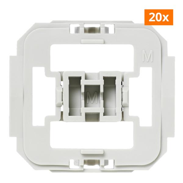 Installationsadapter für Merten-Schalter, 20er-Set für Smart Home / Hausautomation