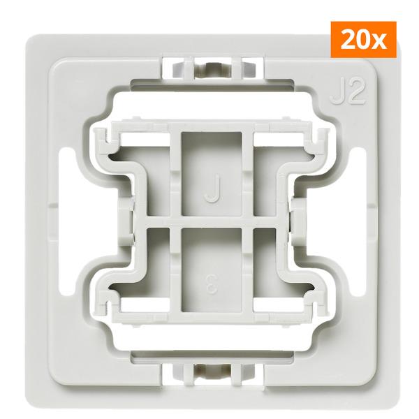Installationsadapter für Jung-Schalter, J2, 20er-Set für Smart Home / Hausautomation