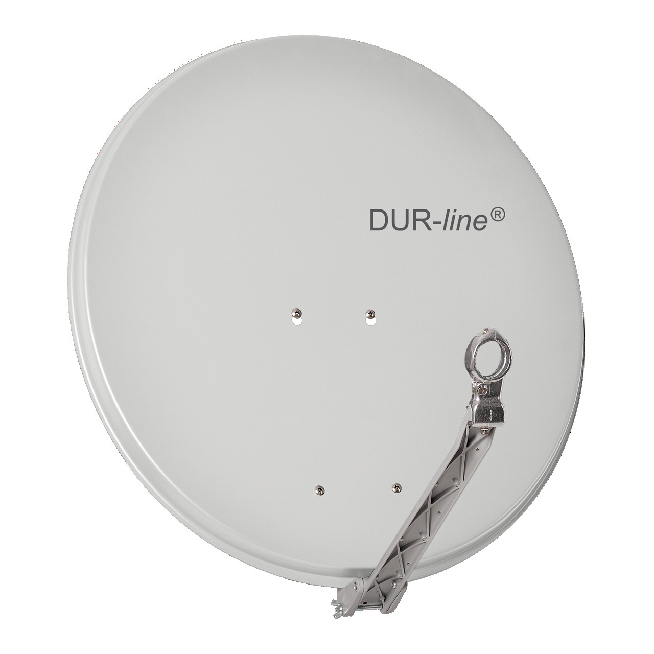 DUR-line Vollaluminium-Satellitenspiegel Select 75-80- pulverbeschichtet- extrem robust- hellgrau