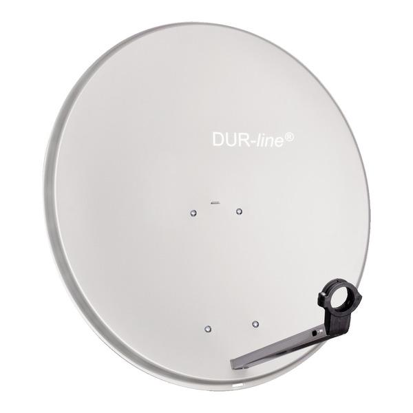 DUR-line Aluminium-Satellitenspiegel MDA 80, hellgrau