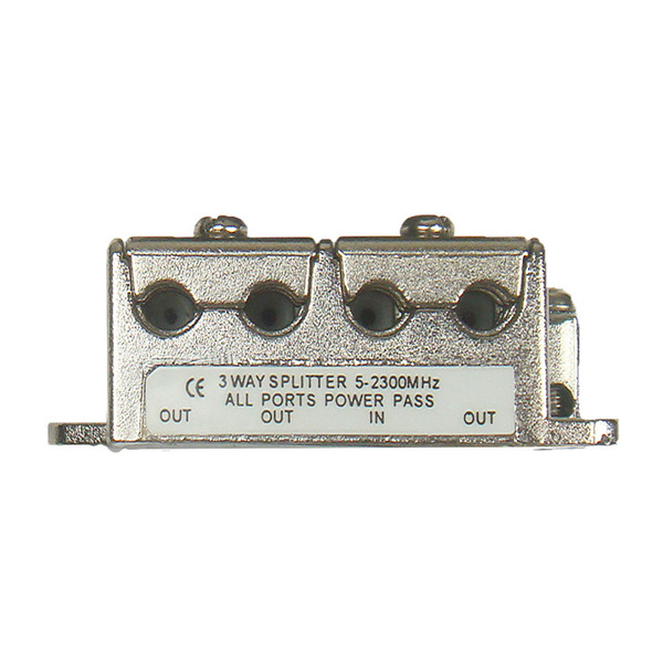 DUR-line 3-fach Mini-BK-/Sat-Verteiler, kleine Bauform, ideal für Unterputzmontage (Unterputzdosen)