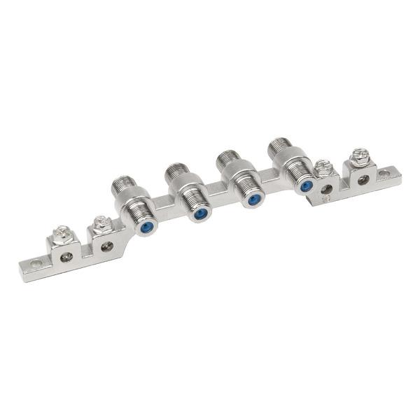 DUR-line Erdungsblock (4-fach), Erdungsklemme bis 10 mm², beliebig erweiterbar, mit F-Buchsen