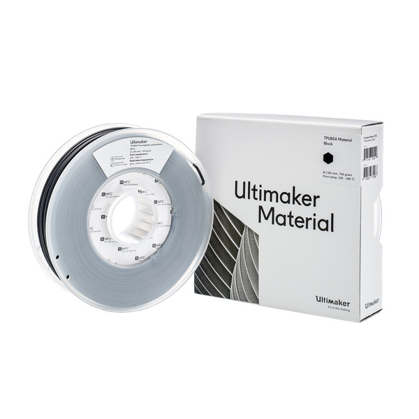 Ultimaker 3 TPU 95A-Filament, reißfest, 2,85 mm, 750 g, schwarz