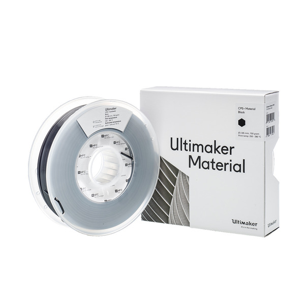 Ultimaker CPE+ Filament, hohe Festigkeit, 2,85 mm, 750 g, schwarz