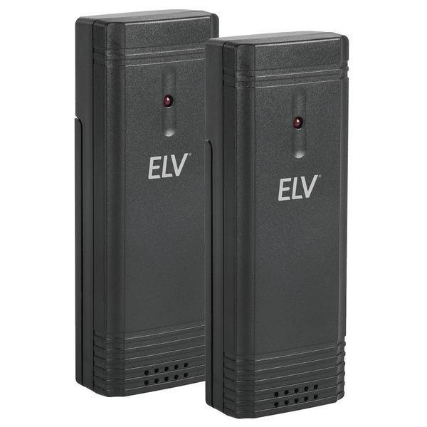 ELV Zusatz-Thermo-/Hygrosensor für Funk-Wetterstation WS50, 2er-Spar-Set