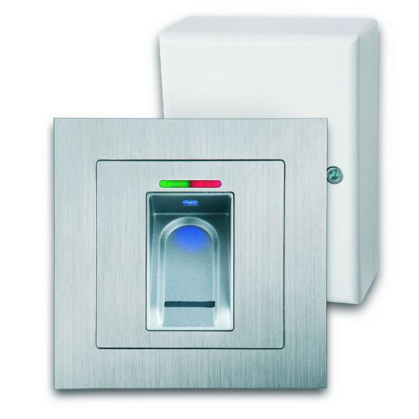 ELV Spar-Set mit BioKey Gate Fingerabdruckscanner (Aufputz) + Funk-Türschlossantrieb KeyMatic (weiß)