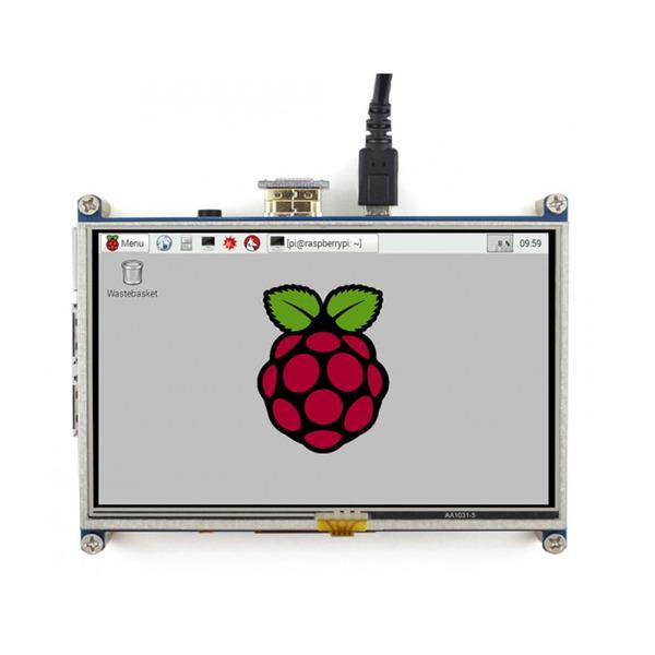 "Joy-IT 12,7 cm (5"") Touch-Display für Raspberry Pi, 800 x 480 Pixel"