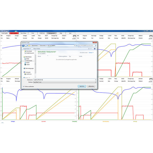 ELV Akku-Lade-Center ALC1800PC, inkl. PC-Auswertesoftware