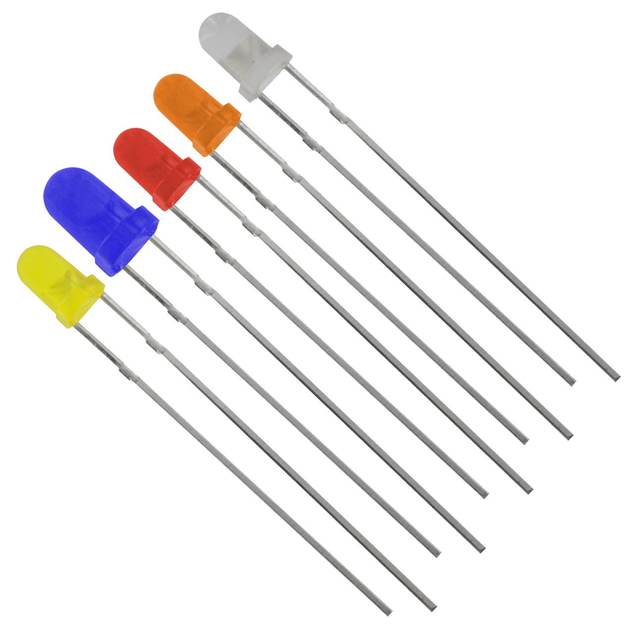 LED Set für SBS-Bausatz (114x weiss- 30x blau- 30x rot- 11x orange- 2x gelb)