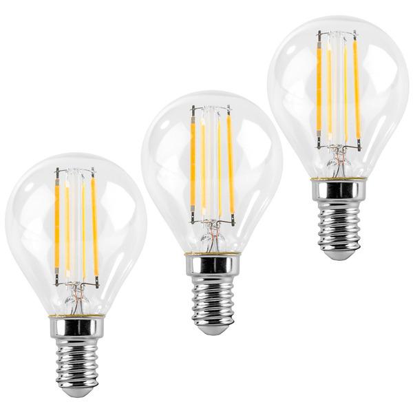 ELV 3er Set FL PREMIUM P40 5-W-Tropfenlampe E14, warmweiß