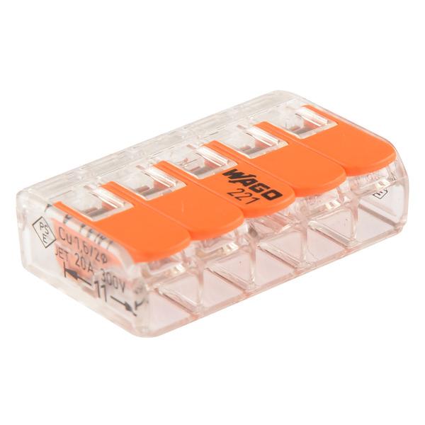 Wago 221-415 COMPACT Verbindungsklemme 5x 4 mm²