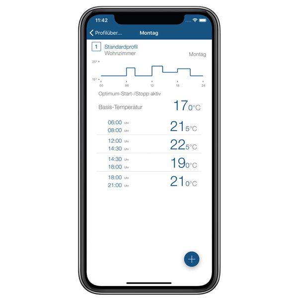 Homematic IP Smart Home Temperatur- und Luftfeuchtigkeitssensor HmIP-STHD mit Display, innen
