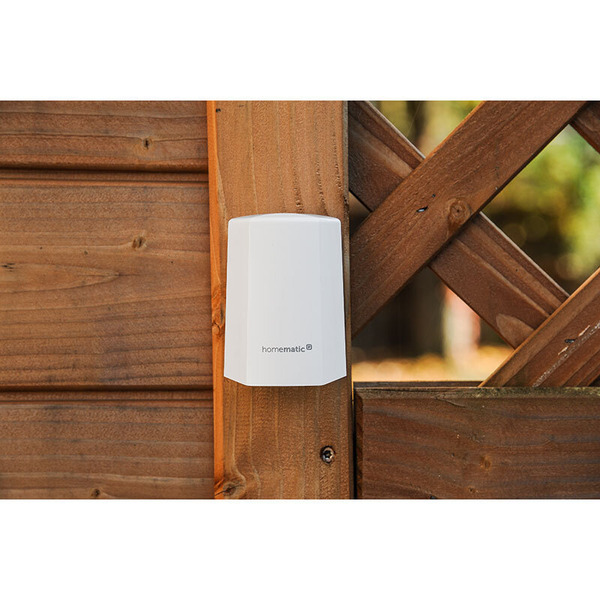 Homematic IP Funk-Temperatur- und Luftfeuchtigkeitssensor HmIP-STHO, weiß, außen