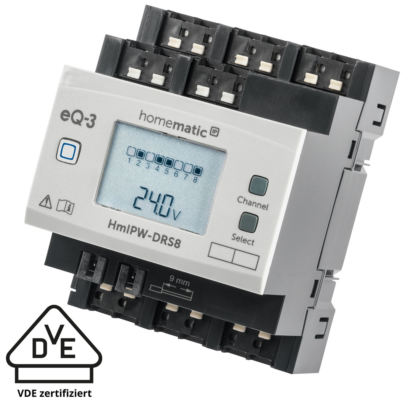 Homematic IP Wired Smart Home 8-fach-Schaltaktor HmIPW-DRS8- VDE zertifiziert