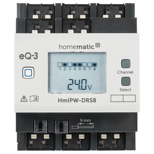 Homematic IP Wired 8-fach-Schaltaktor HmIPW-DRS8, VDE zertifiziert