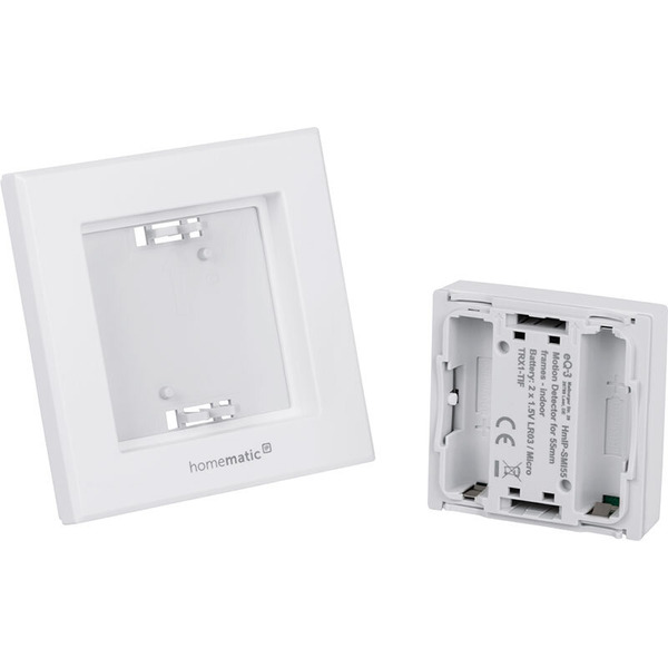 Homematic IP Smart Home Bewegungsmelder HmIP-SMI55 mit 2-Kanal-Funksender, im 55er-Rahmen – innen