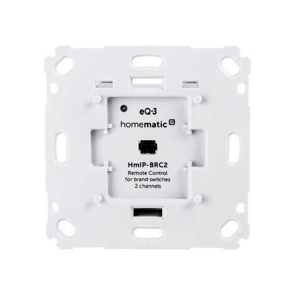 Homematic IP Wandtaster für Markenschalter, 2-fach HmIP-BRC2