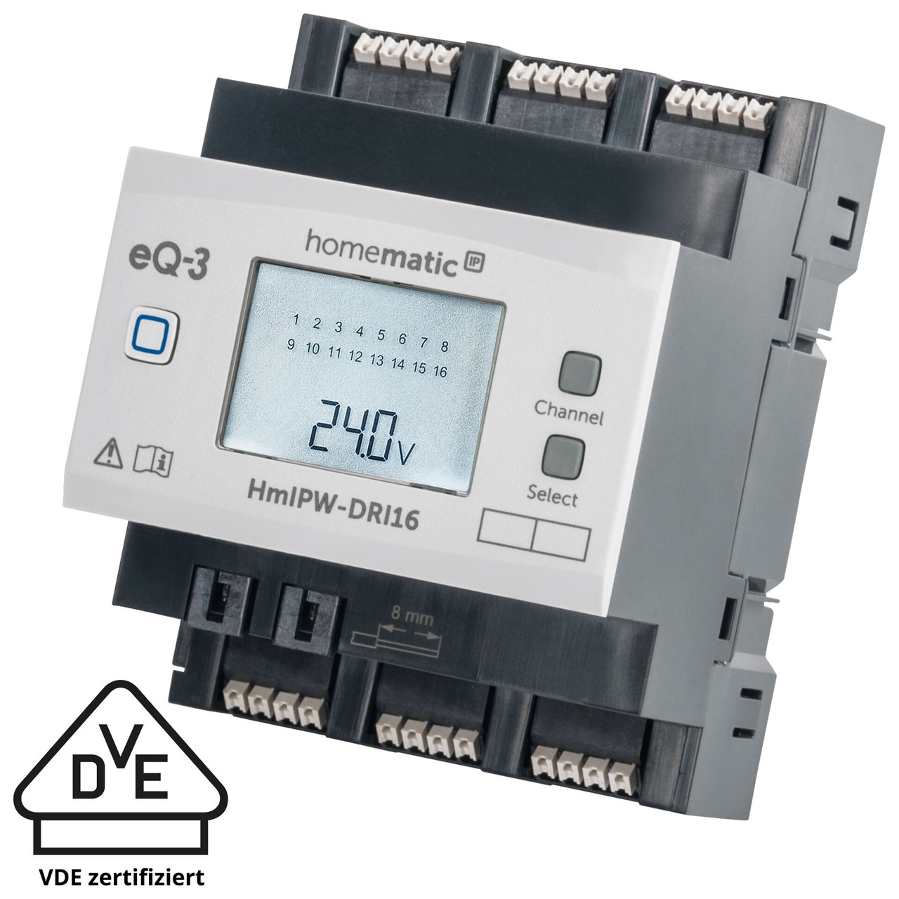 Homematic IP Wired 16-fach-Eingangsmodul HmIPW-DRI16- VDE zertifiziert