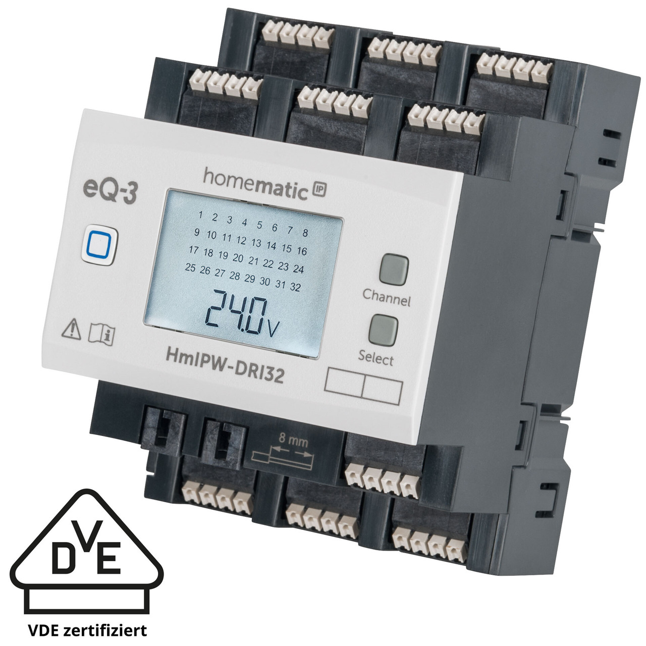 Homematic IP Wired Smart Home 32-fach-Eingangsmodul HmIPW-DRI32- VDE zertifiziert