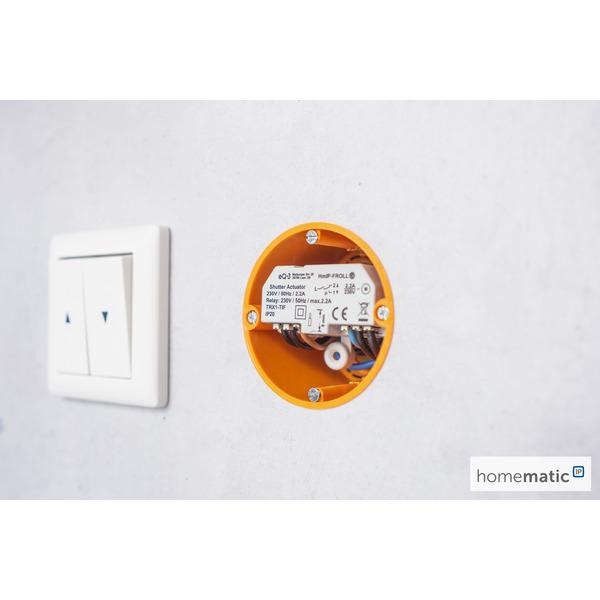 ELV Homematic IP Bausatz Rollladenaktor Unterputz HmIP-FROLL, für Smart Home/Hausautomation