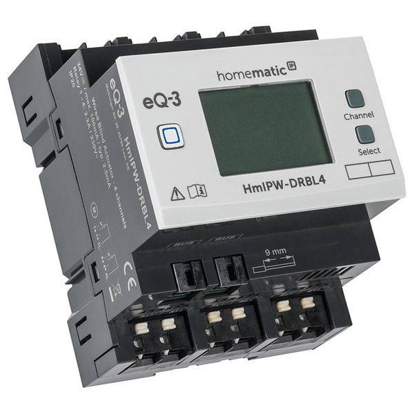 Homematic IP Wired 4-fach-Jalousie-/Rollladenaktor HmIPW-P-DRBL4