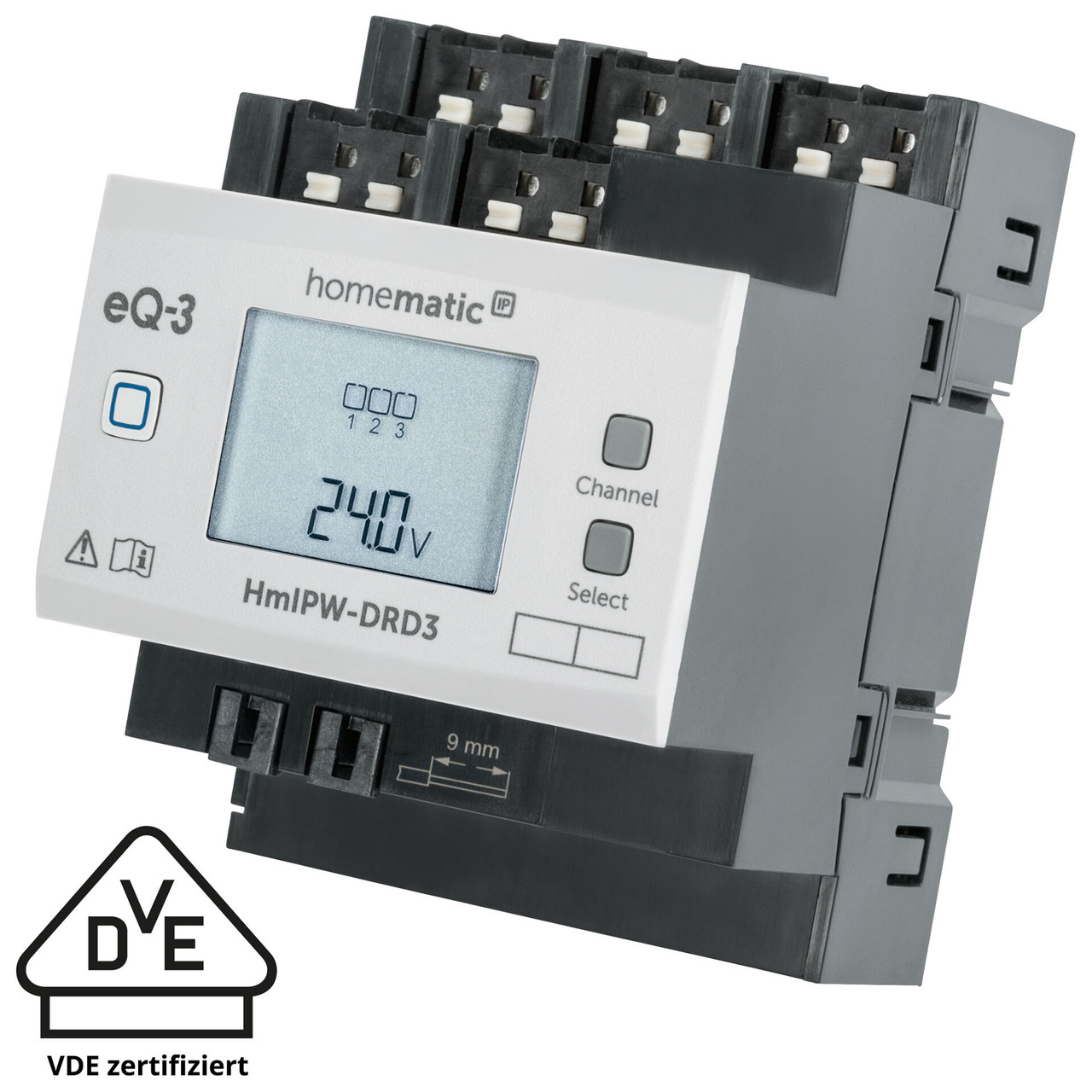 Homematic IP Wired 3-fach-Dimmaktor HmIPW-DRD3- VDE zertifiziert
