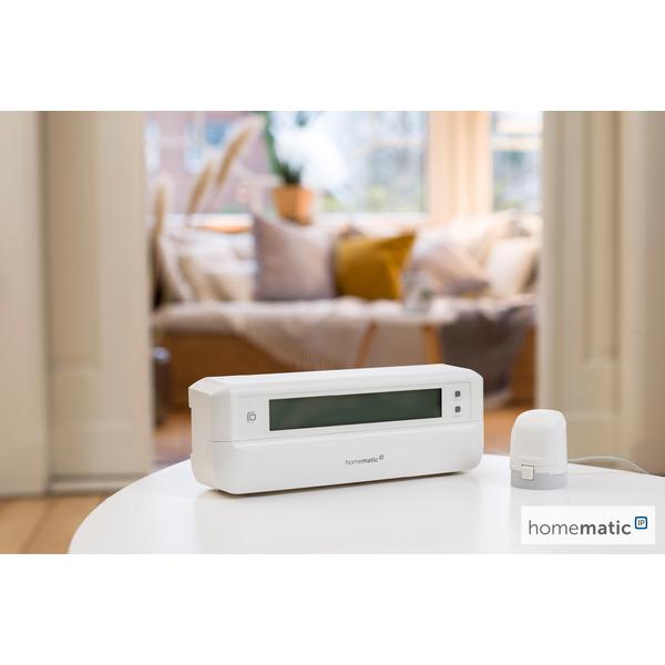 Homematic IP Smart Home Stellantrieb – motorisch für Fussbodenheizung HmIP-VDMOT, inkl. Adapter VA80