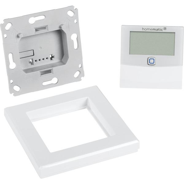 Homematic IP Wired Smart Home Temperatur- und Luftfeuchtigkeitssensor mit Display HmIPW-STHD – innen