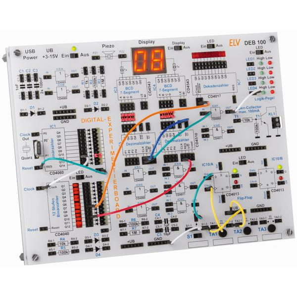 ELV Komplettbausatz Digital-Experimentierboard DEB100
