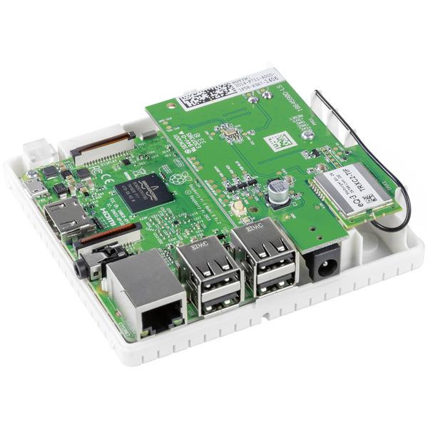 ELV Bausatz Gehäuse RP-Case für Raspberry Pi und RPI-RF-MOD Funk-Modulplatine, weiß