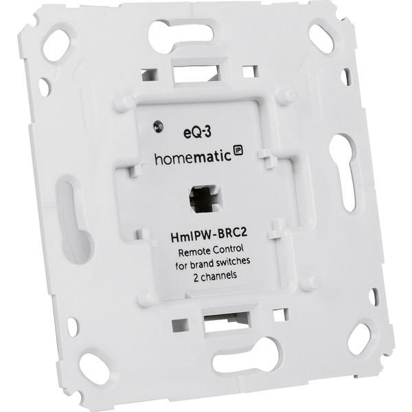 Homematic IP Wired Wandtaster für Markenschalter HmIPW-BRC2, 2-fach