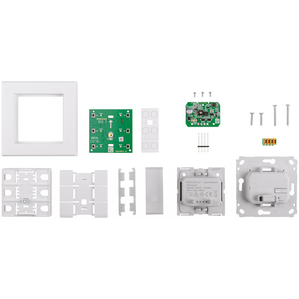 ELV Homematic IP Wired Bausatz 6-fach Wandtaster HmIPW-WRC6, mit LEDs