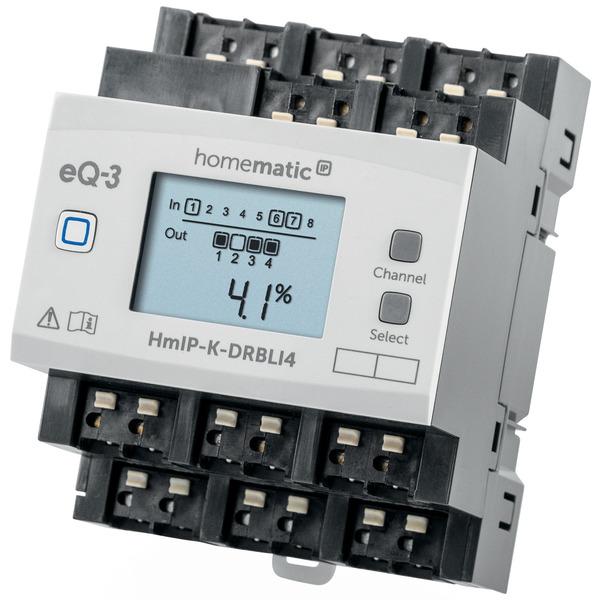 ELV Homematic IP Bausatz 4fach Jalousie-/Rollladenaktor für Hutschienenmontage HmIP-K-DRBLI4