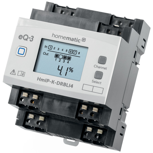 ELV Homematic IP Komplettbausatz 4fach Jalousie-/Rollladenaktor für Hutschienenmontage HmIP-K-DRBLI4